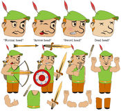 Game character medieval hero Royalty Free Stock Photography