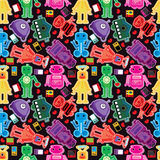 Game Character Seamless Pattern_eps Stock Images