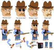 Game character sheriff Stock Images