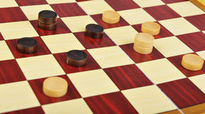 The game of checkers Stock Image