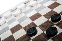 Game in checkers Royalty Free Stock Image