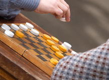 Game in checkers Royalty Free Stock Photos