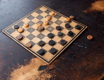 Game Of Checkers stock images