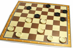A game of checkers or draughts Stock Image