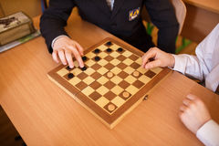 Game of checkers Royalty Free Stock Image