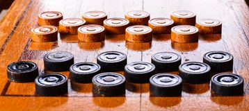 Game of checkers Royalty Free Stock Photography