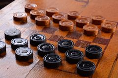 Game of checkers Royalty Free Stock Photos