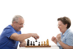 Game in chess Stock Image