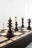 A game of chess. A chess pieces on the chessboard Stock Images