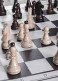 Game of Chess. With differential focus and copy space Royalty Free Stock Photography