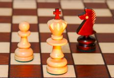 Game in a chess royalty free stock photo
