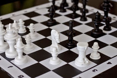 Game of chess. Chess board and pieces in a chess game Stock Photography