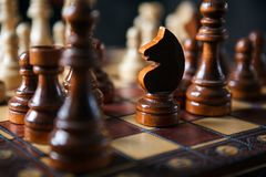 The game of chess royalty free stock photos