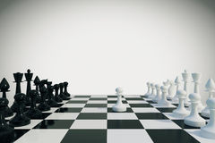 Game of chess concept. Close up Royalty Free Stock Images