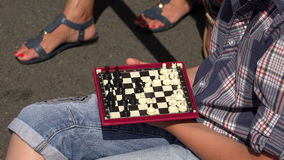 The game of chess. 4K. stock footage