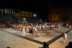 Game of chess in Marostica stock image