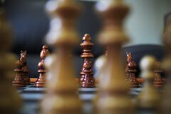 Game of chess in progress Stock Photos
