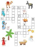 Game for children. Christmas crossword Stock Photo