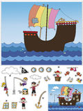 Game for children. Cut and paste vector illustration