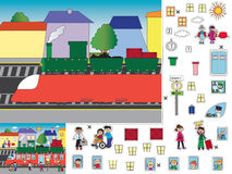 Game for children. Cut and paste Stock Images