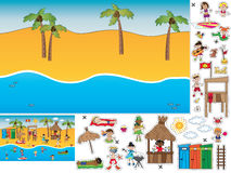 Game for children. Cut and paste the summer landscape Royalty Free Stock Photography