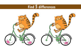 Game for children: find differences Royalty Free Stock Photo