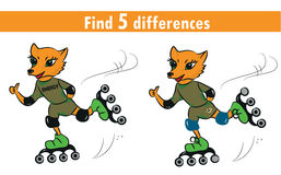 Game for children: find differences Royalty Free Stock Images