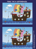 Game for children. Find the eight differences Royalty Free Stock Images