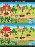 Game for children. Find fifteen differences Royalty Free Stock Photo