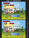 Game. For children: find the fifteen differences Royalty Free Stock Images