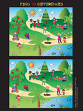 Game for children. Find ten differences Stock Photography