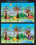 Game for children. Find ten differences Royalty Free Stock Image