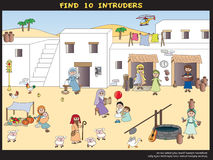 Game for children. Find ten intruders Royalty Free Stock Images