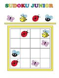Game for children. Sudoku game junior Stock Image