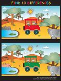 Game for children. Illustration of game for children: find 10 differences Stock Images