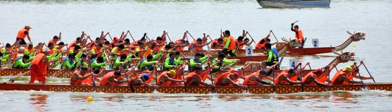 Game of Chinese Dargon boat Stock Photography