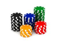 Game chips Royalty Free Stock Photos