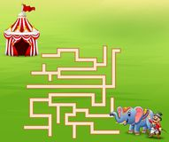 Game circus maze find their way to the tents. Illustration of game circus maze find their way to the tents royalty free illustration