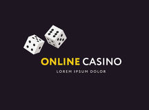 Game club or online casino logo template. Vector illustration. Flat stile design. Stock Photography