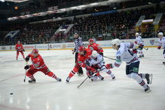 Game between the clubs Avtomobilist&Metallurg 20/01/2015 Stock Photos
