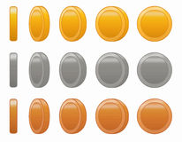 Game coin animation set vector illustration Royalty Free Stock Image