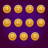 Game Coin number Royalty Free Stock Photos