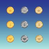 Game coin set Stock Photos