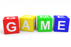 GAME colorful cubes. Royalty Free Stock Photography