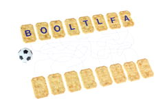 Game, composed the word Royalty Free Stock Image