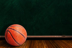 Game Concept With Basketball and Chalk Board Play Strategy Royalty Free Stock Photography