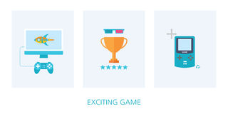 Game concept icon set. Illustration Royalty Free Stock Photo