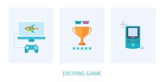 Game concept icon set Royalty Free Stock Photo