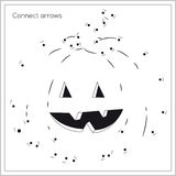 Game - connect arrows - happy pumpkin (vector) Royalty Free Stock Images