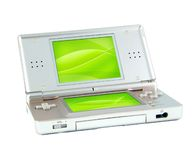 Game console. With clear screen stock photography